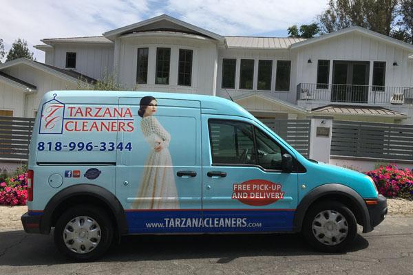 Tarzana Delivery Van in front of customer home