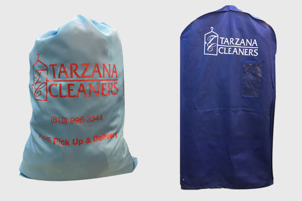 Tarzana laundry bag and garment bag
